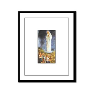 Our Lady of the Rosary - Fati Framed Panel Print