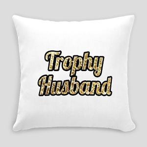Trophy Husband Gold Glitter Everyday Pillow