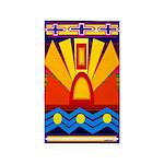 River Sun Indian Motif Area Rug