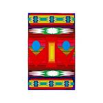 Peaceful Dance Indian Motif Area Rug
