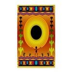 Sunflower Song Indian Motif Area Rug