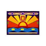 River Sun American Indian Motif 5'x7'area