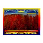 Autumn Fire American Indian Motif 5'x7'are