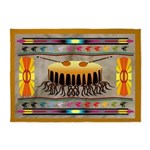 Lonely Drum American Indian Motif 5'x7'are