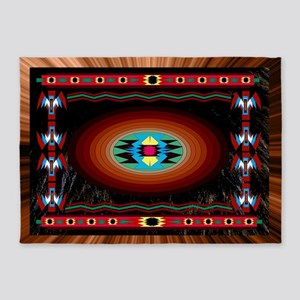 Night Bear American Indian Motif 5'x7'area