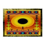 Sunflower Song American Indian Motif 5'x7'