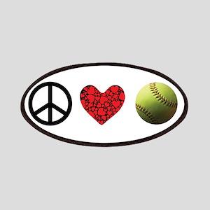 Peace Love Softball Patch