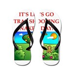 trap shooting Flip Flops