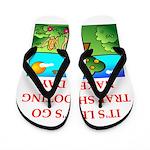 trap shooting Flip Flops