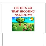 trap shooting Yard Sign