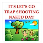 trap shooting Square Car Magnet 3