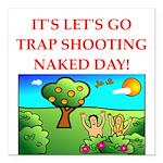 trap shooting Square Car Magnet 3