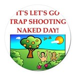 trap shooting Round Car Magnet