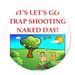 trap shooting Round Car Magnet