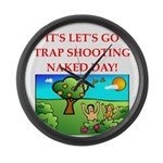 trap shooting Large Wall Clock