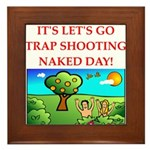 trap shooting Framed Tile
