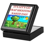 trap shooting Keepsake Box