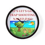 trap shooting Wall Clock