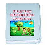 trap shooting baby blanket