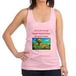 trap shooting Racerback Tank Top