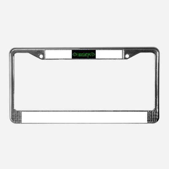 F_Society 2 License Plate Frame