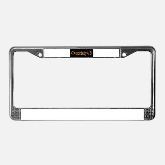 F_Society 2_crt License Plate Frame