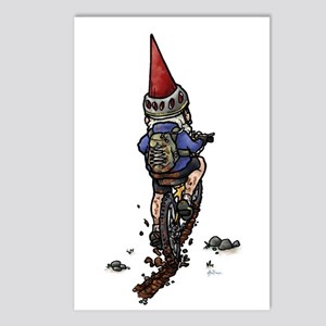 Dirty Little Mountain Biker Gnome Postcards (Packa