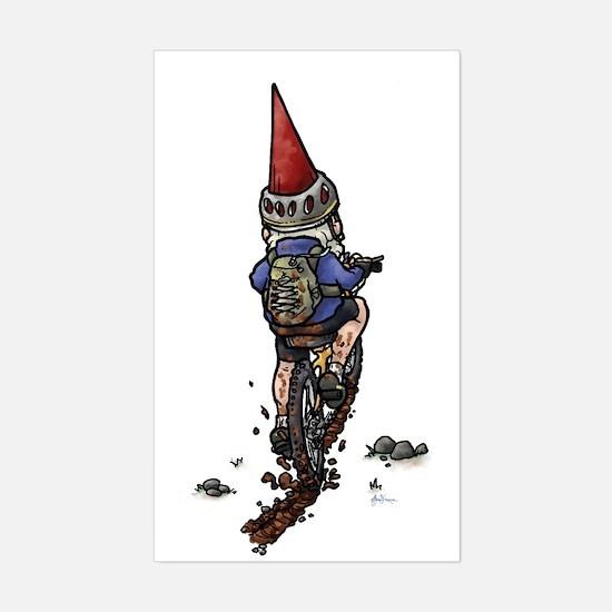 Dirty Little Mountain Biker Gnome Decal