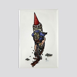 Dirty Little Mountain Biker Gnome Rectangle Magnet