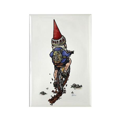 Dirty Little Mountain Biker Gnome Rectangle Magnet