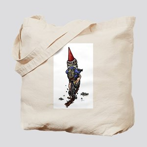 Dirty Little Mountain Biker Gnome Tote Bag