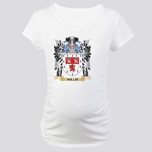 Willis Coat of Arms - Family Cre Maternity T-Shirt