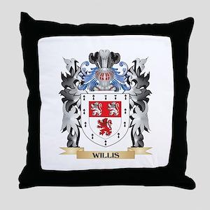 Willis Coat of Arms - Family Crest Throw Pillow