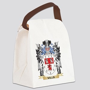 Willis Coat of Arms - Family Cres Canvas Lunch Bag