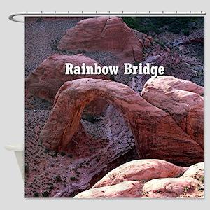 Rainbow Bridge, Utah, from air (cap Shower Curtain