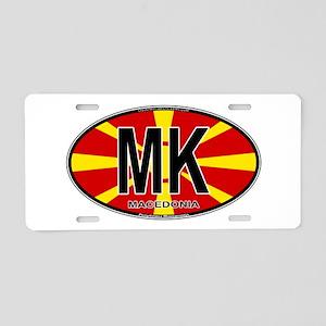 mk-oval-colors Aluminum License Plate