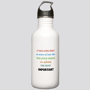 Sherlock Holmes Quote Stainless Water Bottle 1.0L
