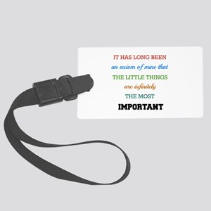 Sherlock Holmes Quote on The Imp Large Luggage Tag