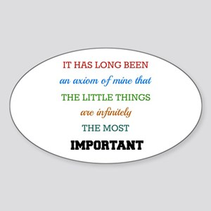 Sherlock Holmes Quote on The Importance of Sticker