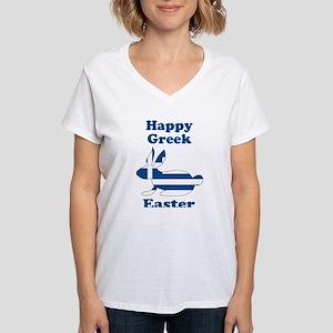 Greek Easter Women's V-Neck T-Shirt