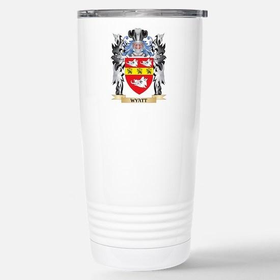Wyatt Coat of Arms - Fa Stainless Steel Travel Mug