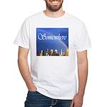9-11 Rainbow White T-Shirt