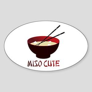Miso Cute Oval Sticker