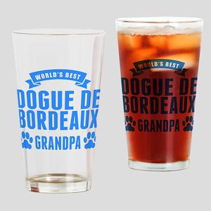 Worlds Best Dogue de Bordeaux Grandpa Drinking Gla