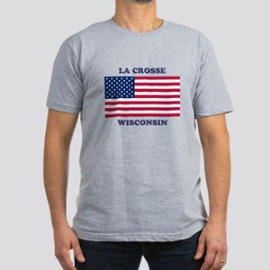La Crosse Wisconsin Men's Fitted T-Shirt (dark)