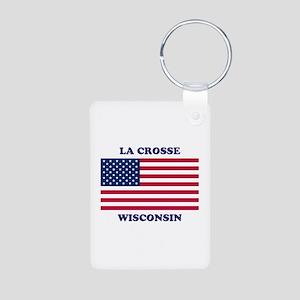 La Crosse Wisconsin Aluminum Photo Keychain