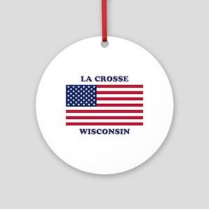 La Crosse Wisconsin Round Ornament