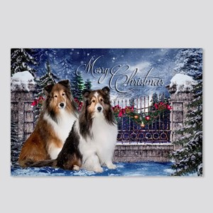 Festive Shelties Christmas Postcards (Package of 8