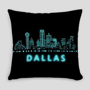 Digital Dallas, Texas Everyday Pillow