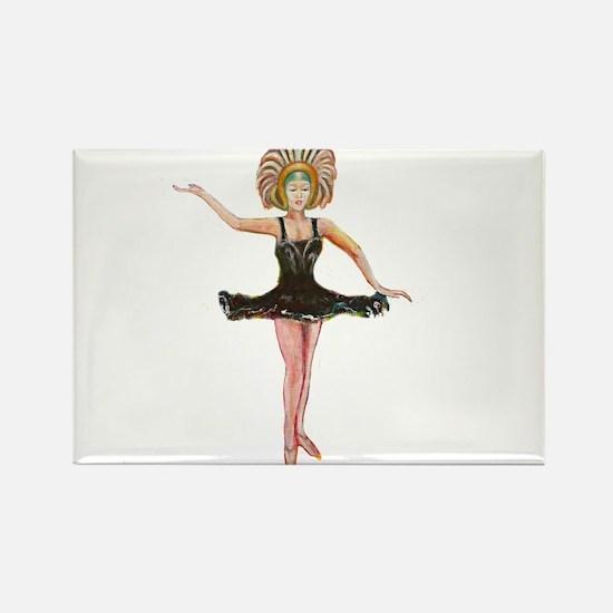 Dancer in the Black Tutu Magnets